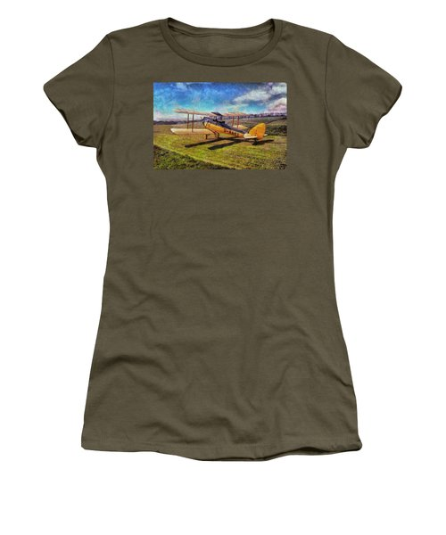 Women's T-Shirt featuring the digital art Gipsy Moth by Paul Gulliver