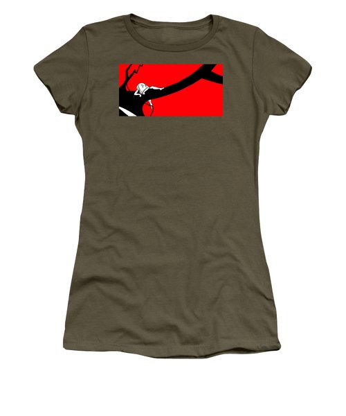 Girl On The Tree Of Time Red Women's T-Shirt