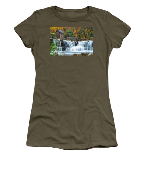 Glade Creek Grist Mill And Waterfalls Women's T-Shirt (Athletic Fit)