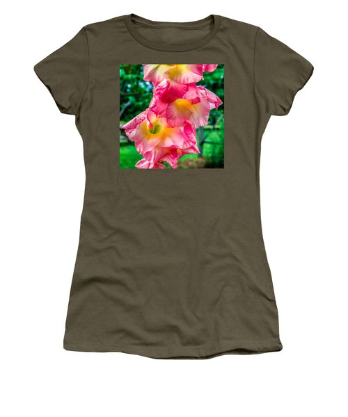 Women's T-Shirt (Junior Cut) featuring the photograph Gladiolus by Rob Sellers