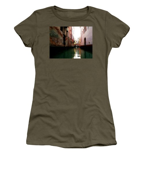Gliding Along The Canal  Women's T-Shirt (Junior Cut) by Micki Findlay