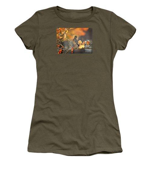 Glowing Robin 2 Women's T-Shirt (Junior Cut) by Nava Thompson