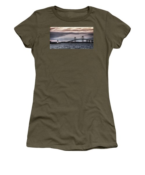 Goat Island Lighthouse And Newport Bridge Women's T-Shirt