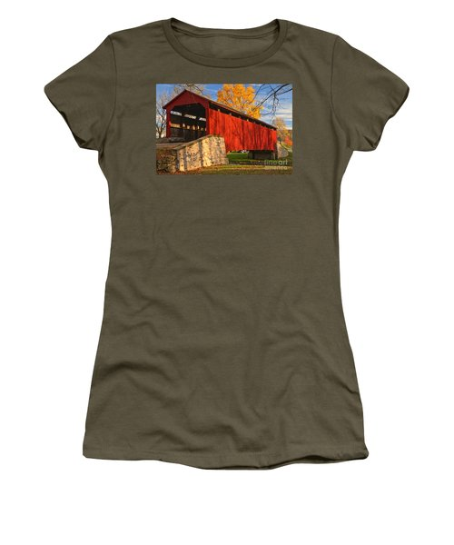 Gold Above The Poole Forge Covered Bridge Women's T-Shirt