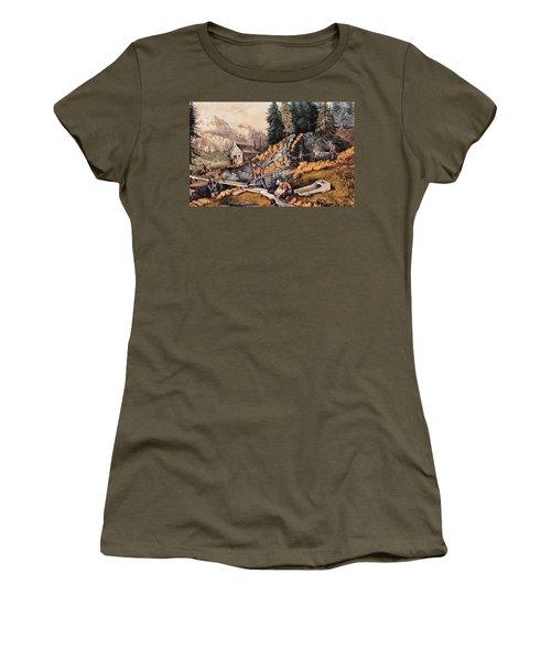 Gold Mining In California Women's T-Shirt