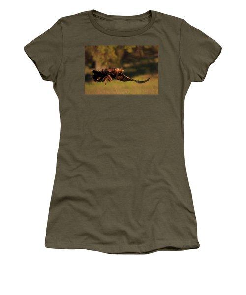 Golden Eagle On The Hunt Women's T-Shirt