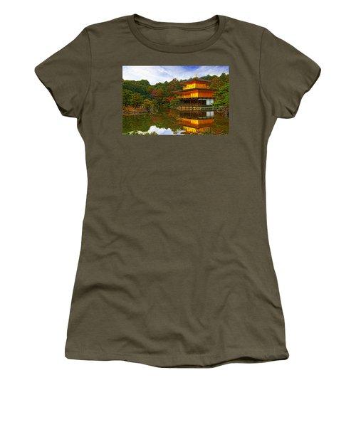 Golden Pavilion Women's T-Shirt (Athletic Fit)