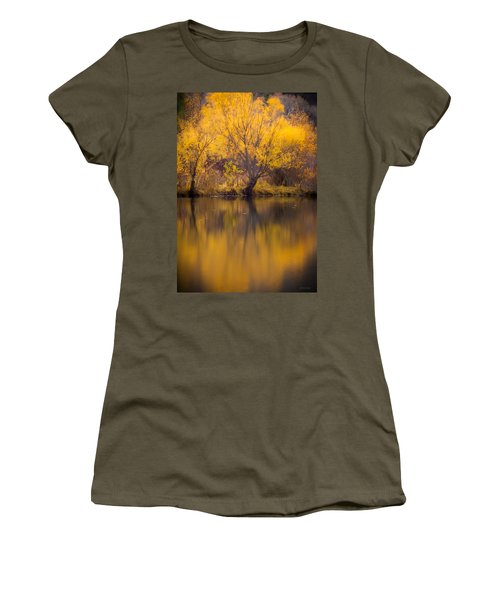 Golden Pond Women's T-Shirt (Junior Cut) by Steven Milner