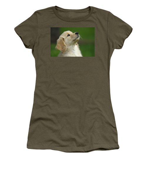 Golden Retriever Puppy Women's T-Shirt (Athletic Fit)