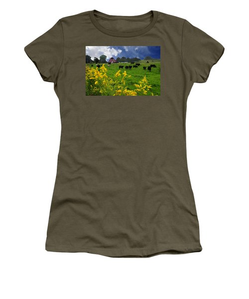 Golden Rod Black Angus Cattle  Women's T-Shirt (Athletic Fit)