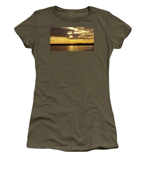 Golden Sunset Women's T-Shirt (Junior Cut) by John Telfer