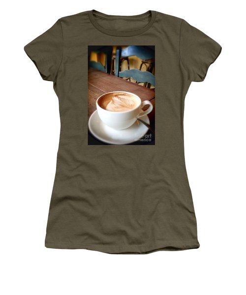 Good Morning Latte Women's T-Shirt (Athletic Fit)