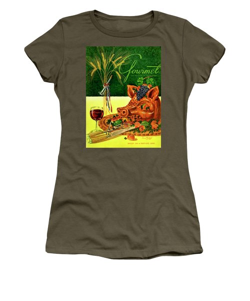 Gourmet Cover Featuring A Pig's Head On A Platter Women's T-Shirt