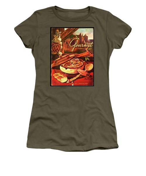 Gourmet Cover Featuring A Pot Of Stew Women's T-Shirt