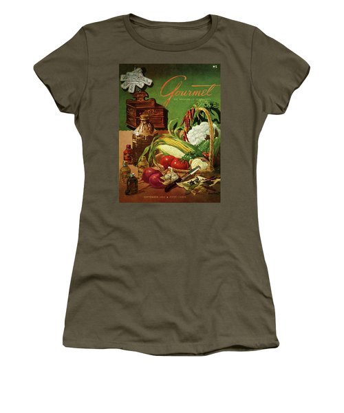 Gourmet Cover Featuring A Variety Of Vegetables Women's T-Shirt