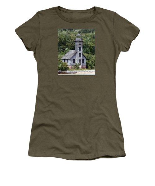 Grand Island East Channel Lighthouse Women's T-Shirt (Junior Cut) by George Jones