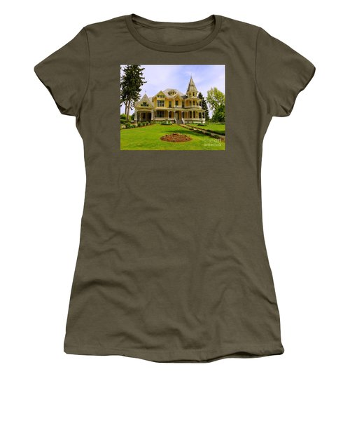 Women's T-Shirt (Junior Cut) featuring the photograph Grand Yellow Victorian by Becky Lupe
