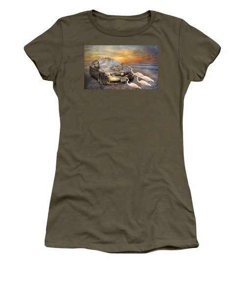 Grateful Friends Curious Egrets Women's T-Shirt
