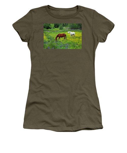 Grazing Amongst The Wildflowers Women's T-Shirt