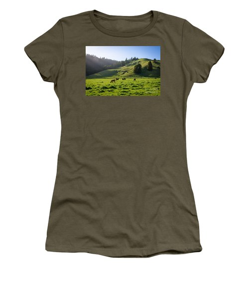 Grazing Hillside Women's T-Shirt (Junior Cut) by CML Brown