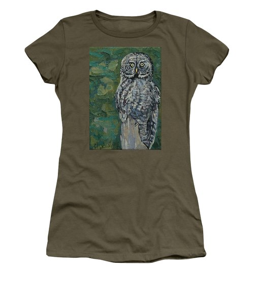 Great Gray Women's T-Shirt (Junior Cut) by Phil Chadwick