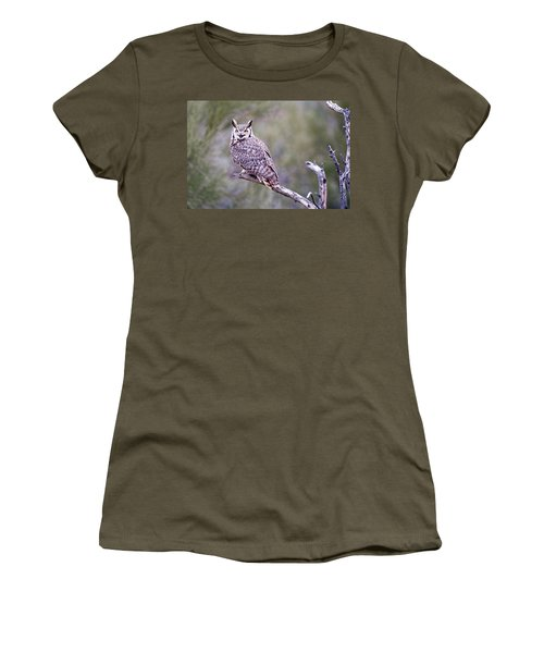 Women's T-Shirt featuring the photograph Great Horned Owl by Dan McManus