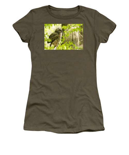 Great Horned Owlet Women's T-Shirt
