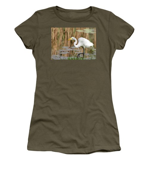 Great White Egret By The River Women's T-Shirt