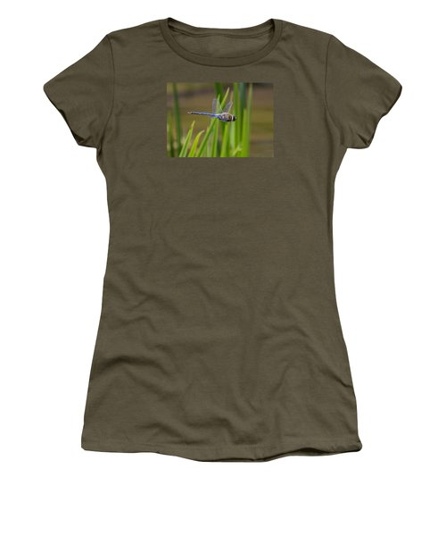Women's T-Shirt (Junior Cut) featuring the photograph Green Darner Flight by David Lester