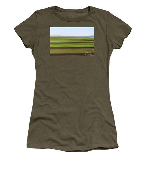 Green Field Abstract Women's T-Shirt