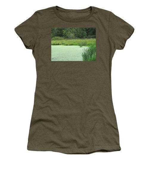 Women's T-Shirt (Junior Cut) featuring the photograph Green Moss by Tina M Wenger
