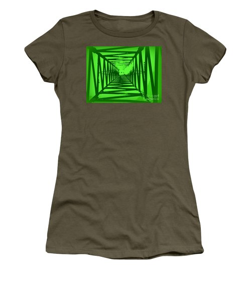 Women's T-Shirt (Junior Cut) featuring the photograph Green Perspective by Clare Bevan
