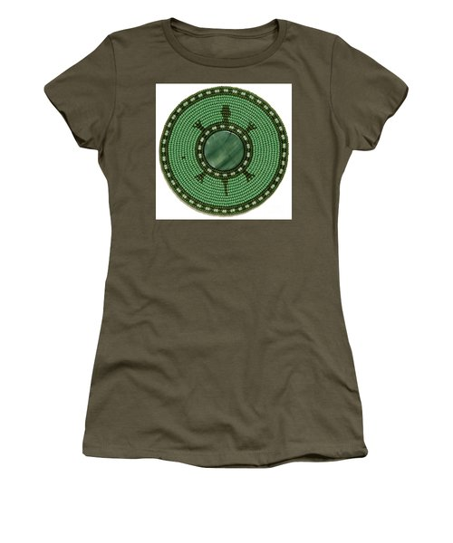 Green Shell Turtle Women's T-Shirt (Athletic Fit)