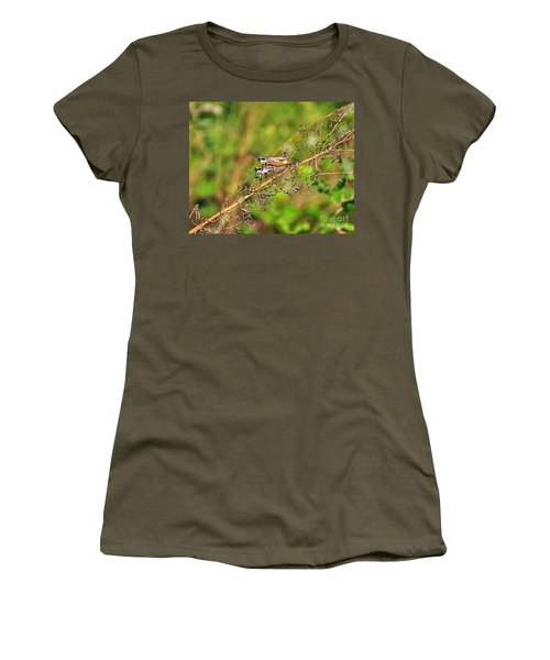 Gregarious Grasshoppers Women's T-Shirt (Athletic Fit)