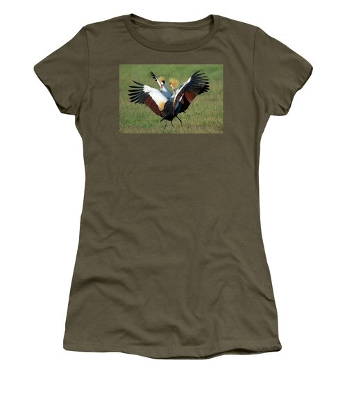 Grey Crowned Crane Balearica Regulorum Women's T-Shirt