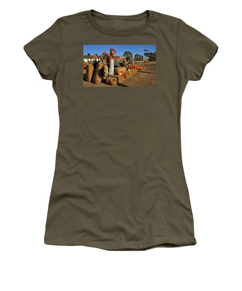 Guarding The Pumpkin Patch Women's T-Shirt (Athletic Fit)
