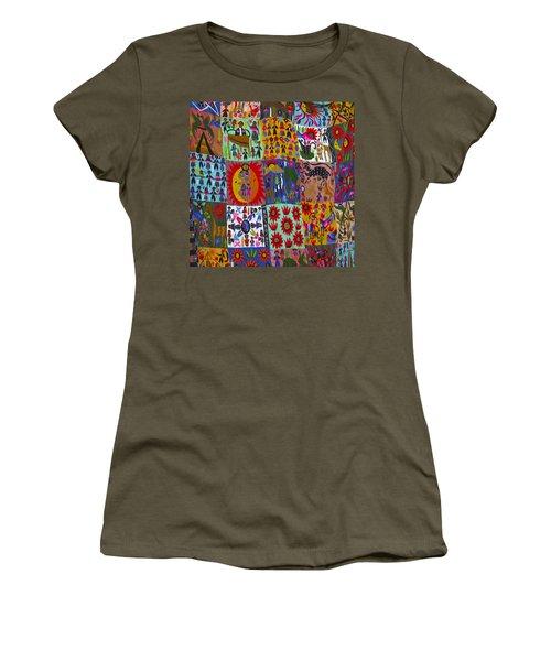 Guatemala Folk Art Quilt Women's T-Shirt