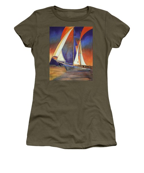 Gulet Under Sail Women's T-Shirt (Athletic Fit)
