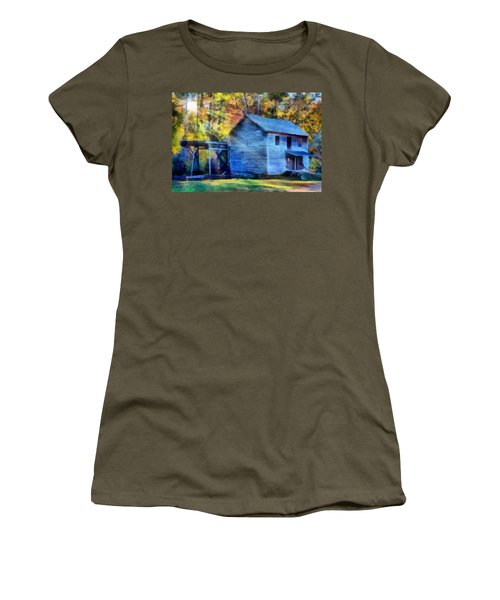 Hagood Mill With Sunrays Women's T-Shirt (Junior Cut) by Lynne Jenkins