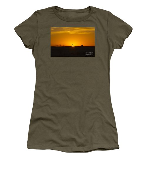 Hammering The Sun Women's T-Shirt (Athletic Fit)