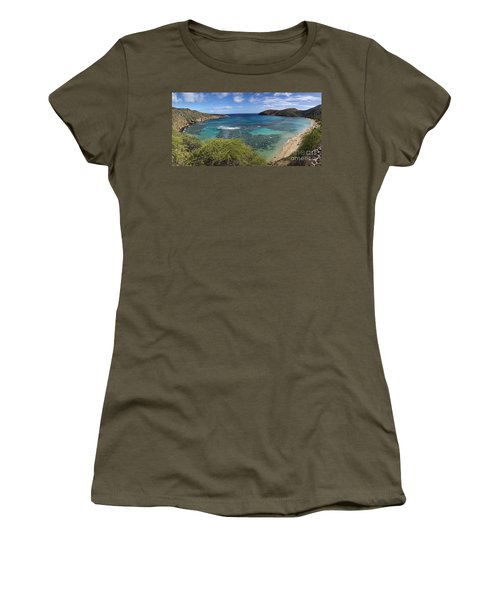 Hanauma Bay Panorama Women's T-Shirt (Athletic Fit)