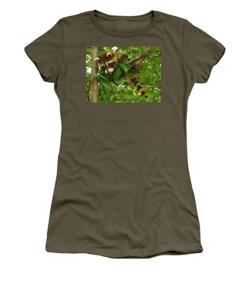 Women's T-Shirt (Junior Cut) featuring the photograph Hang In There by James Peterson