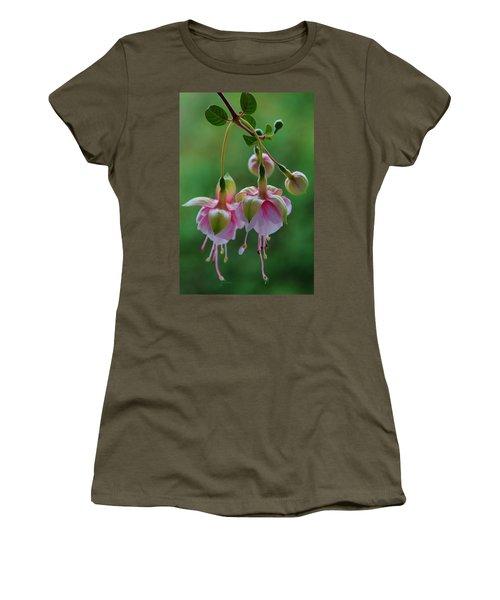 Women's T-Shirt (Junior Cut) featuring the photograph Hanging Fuschia by Debra Martz