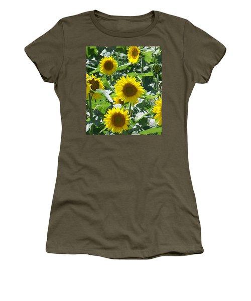 Happy Faces Women's T-Shirt (Junior Cut) by Jackie Mueller-Jones