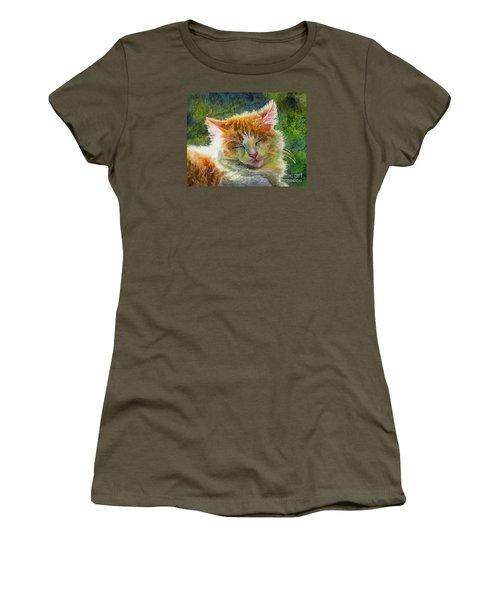 Happy Sunbathing 2 Women's T-Shirt (Junior Cut) by Hailey E Herrera