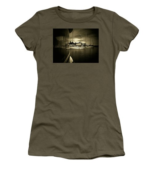 Women's T-Shirt (Junior Cut) featuring the photograph Harbour Life by Micki Findlay