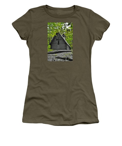Hartwick Pines Chapel Bwg Women's T-Shirt (Junior Cut) by Daniel Thompson