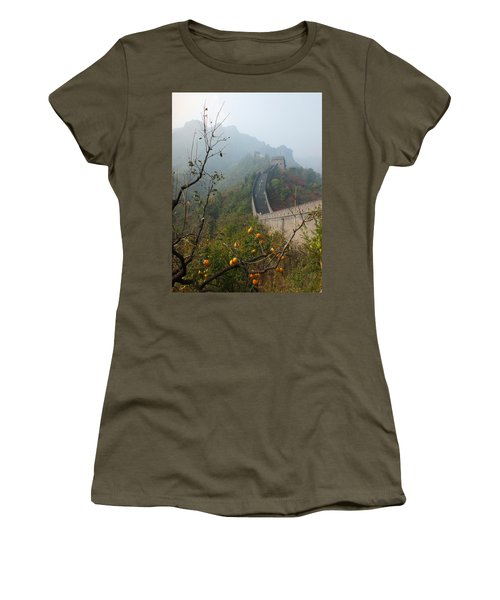 Harvest Time At The Great Wall Of China Women's T-Shirt