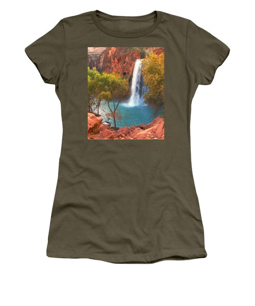 Havasu Falls Women's T-Shirt (Junior Cut) by Alan Socolik