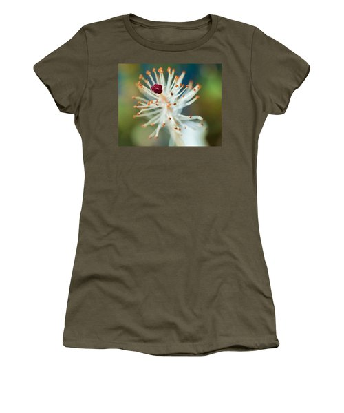Hawaiian White Hibiscus Women's T-Shirt (Athletic Fit)